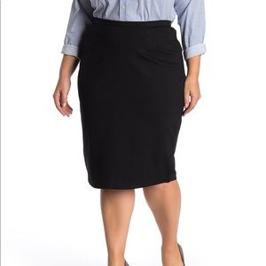 City Chic Solid Knit Tube Midi Skirt